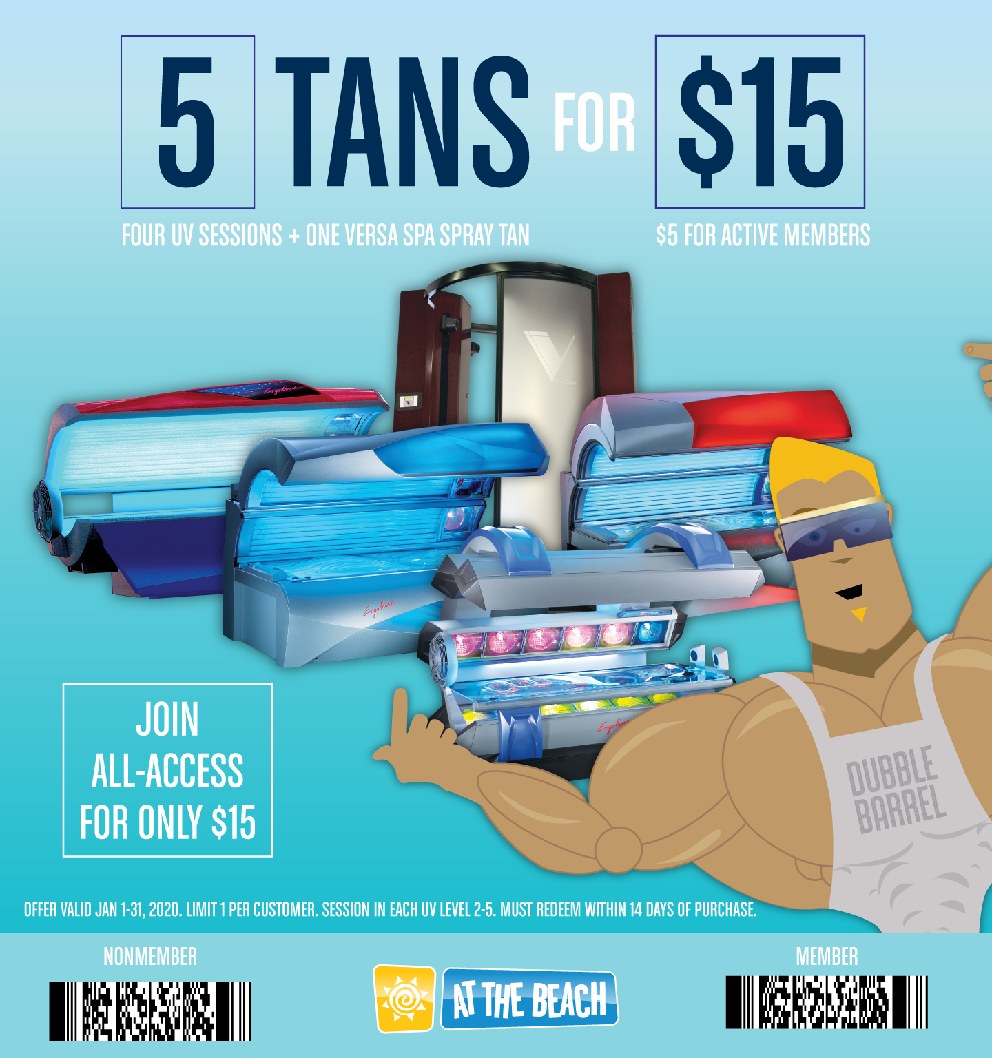 5 Tans for $15!