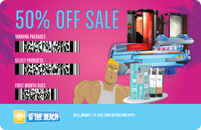 ATB's 50% Off Sale - 50% Off Select Products/Services + 50% Off 1st Month's Dues!