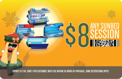 $8 Any Sunbed Session - Super Level to Level 5 360